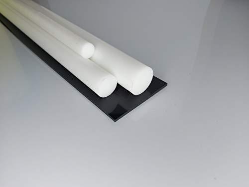 Rundstab aus PTFE weiß Ø 50 mm, Lang 1 Meter Kunststoffrundstab (Teflon) alt-intech®