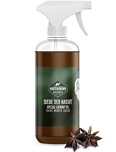Martenbrown® Diebe der Nacht Lockmittel Spray für Marder, Fuchs, Dachs, Waschbären Duftstoff Lockstoff für Fallen Marderlockmittel für Lebendfallen Marderfalle 500ml