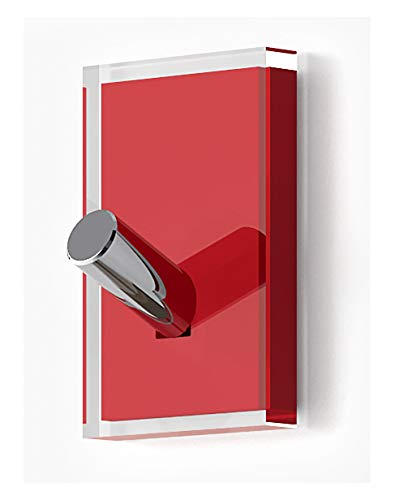 Gedy Rainbow Percha, Resinas termoplásticas, Transparente Rojo, Simple