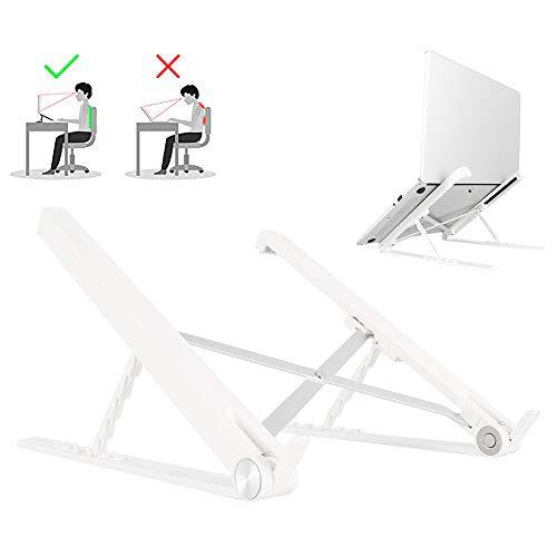 Ghopy Laptop-Ständer, 5-fach höhenverstellbar, zusammenklappbar, ergonomisch,...