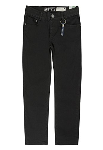 Lemmi Jungen Jeans Tight fit Slim Hose, Schwarz (Black Denim 0010), 164