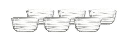 Leonardo Gusto Struttura Schale, 6-er Set, 0,5 l, hitzebeständiges Klarglas mit Struktur, Durchmesser 12 cm, 038111