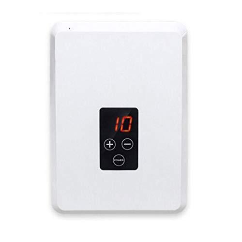 400mg / h O3 generador de ozono, Generador ozono portátil purificador de aire esterilizador de ozono, Lavadora doméstica de frutas y verduras, Temporizador 1-30 minutos, 8L, eliminar el olor, Blanco