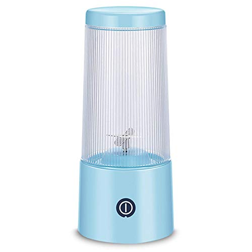 Taza exprimidora portátil, Mini licuadora doméstica, batidora de Carga USB, Taza de Jugo eléctrica Regalo, máquina de Jugo portátil para Cocina casera, Azul