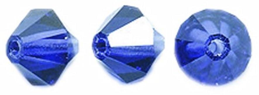 Preciosa Czech Crystal Bicone Beads, Deep Tanzanite