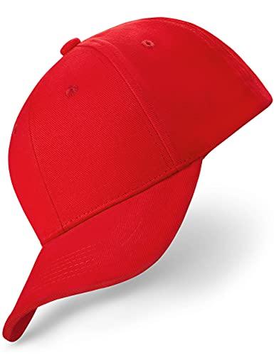 REEFLESS® Baseball Cap Herren Damen rote Basecap - verstellbare Kappe - Caps für Männer Frauen