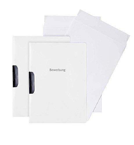 Durable 999108092 Bewerbungsset Duraswing Job, 2 Bewerbungsmappen mit 2 Versandtaschen, weiß
