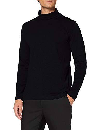 Pierre Cardin Herren Futureflex Longsleeve mit Rollkragen Sweatshirt, Black, M
