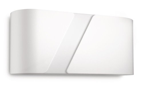 Philips Lighting Gainsboro Lampada da Parete, Metallo, Bianco, 27 cm