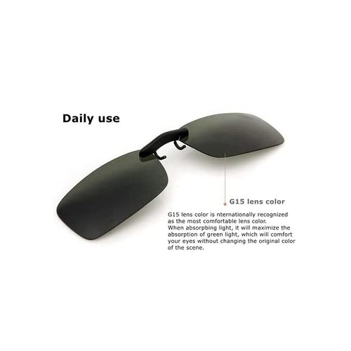 54a938f087 Buy Generic Polarized Clip On Sunglasses Night Vision Clip Driver Glasses  Lens-Grey-Small Online at Low Prices in India - Amazon.in