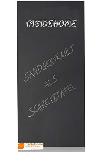 insidehome | Infrarotheizung Tafel CLASSIC | rahmenlos | hochwertige Glasheizung sandgestrahlt | deutscher Hersteller | 700 Watt (120x60x2,5 cm)