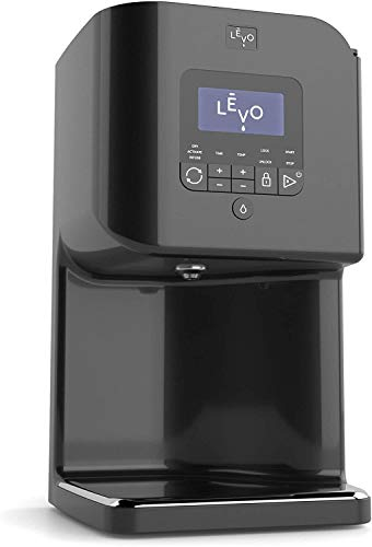 LEVO II - Herbal Oil and Butter Infusion Machine - Botanical Decarboxylator, Herb Dryer and Oil Infuser - Mess-Free and Easy to Use - WiFi-Enabled via Programmable App (Jet Black)