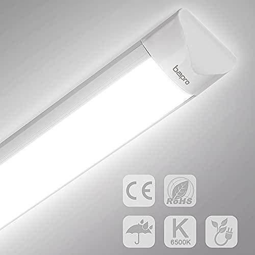Tubo LED 120cm, Luz de Techo LED 40W 3200LM, Tubo Fluorescente LED Blanca Fría Impermeable de 6500K para Oficina, Garaje, Baño, Hotel, Hospital, Almacén, Cocina
