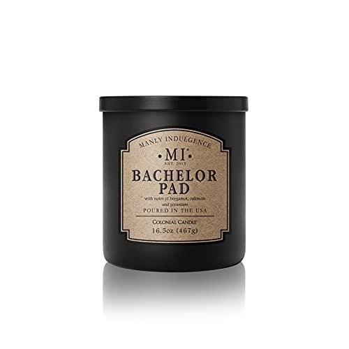 Manly Indulgence Bachelor Pad Jar Candle, 16.5 oz, Ivory