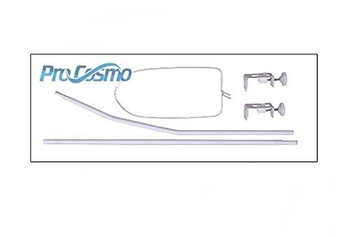 10 Piéces Pro Cosmo Ensemble de literie pour Lit de Bébé Ciel de Lit 100% Coton (120 x 60cm, Grey...