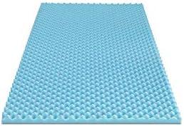 Furinno Angeland 2 Inch Egg Crate Gel HD Foam Mattress Topper Soft Twin Blue product image