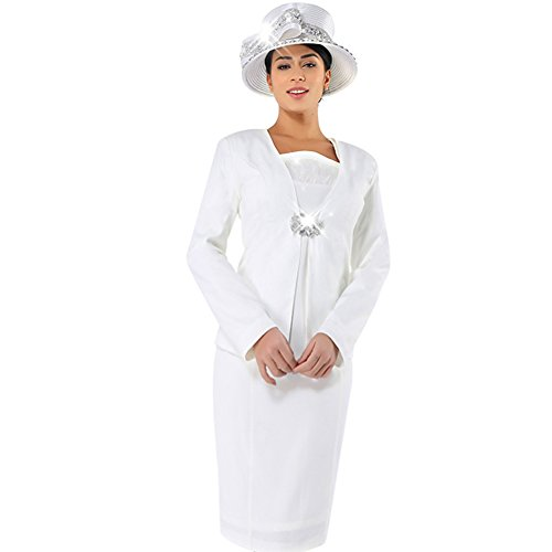 KUEENI Women Church Suits with Hats Church Dress Suit for Ladies Formal Church Clothes
