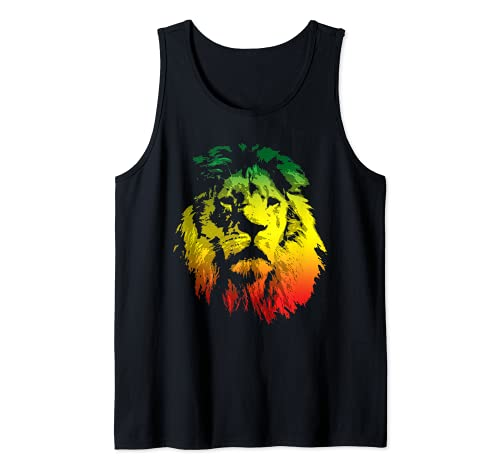 Lion Rasta Colors Rastafari Pride Reggae Inspired Tank Top
