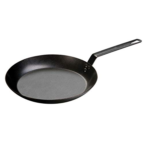Lodge Not Available CRS12 Carbon Steel Skillet, Pre-Seasoned, 12-inch,Black
