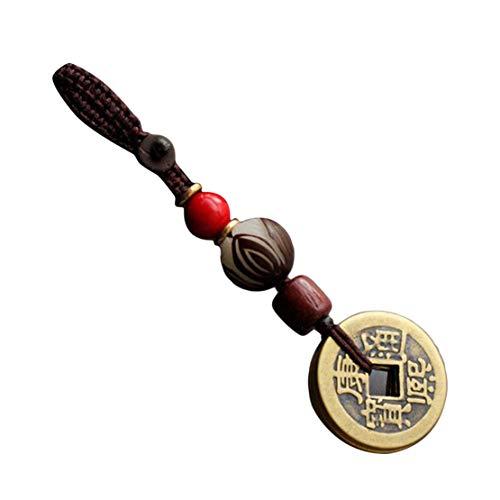 Botreelife Reines Kupfer Fünf Kaiser Geld Sicher Schlüsselbund Glücksgeschenk Kaffee Farbe Seil