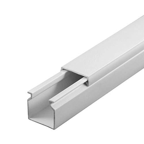 SCOS Smartcosat SCOSKK47 10 m Kabelkanal (L x B x H 2000 x 16 x 16 mm, PVC, Kabelleiste, Schraubbar) weiß