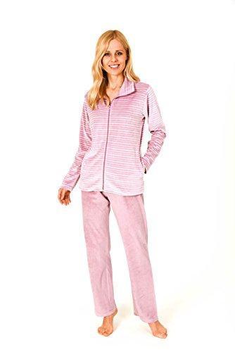 Damen Hausanzug Homewear Nicky Velvet - 57675, Größe2:44/46, Farbe:Altrose