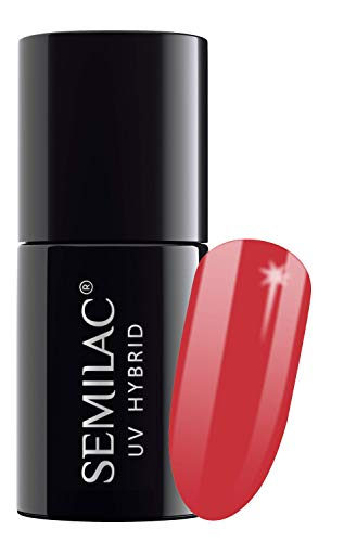 Semilac UV-Hybrid-Nagellack, Nr. 024, 7 ml, vibrierende Tomate