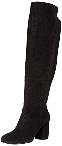 NINE WEST Women's KERIANNA Knee High Boot, Black Suede, 8