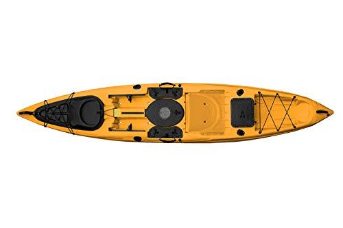 Malibu Kayaks Stealth-14 Ultimate Fishing Kayak with Seat Tray (Stone)