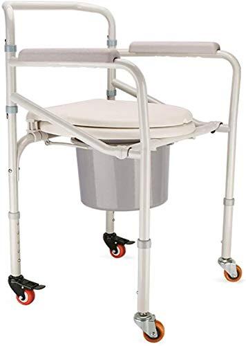 HMMN Silla de alimentación Ligera Plegable de Altura Ajustable con Ruedas, usadas para Personas Mayores discapacitadas Embarazadas