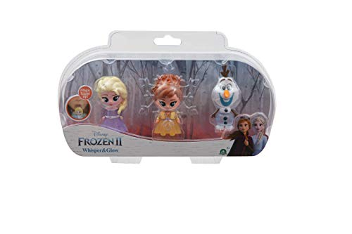 Giochi Preziosi Disney Frozen 2 Whisper and Glow Triple Blister, Elsa, Anna e Olaf