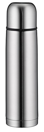 alfi isoTherm Eco Thermosflasche Edelstahl mattiert 750ml, Isolierflasche mit Trinkbecher 5457.205.075 spülmaschinenfest, dicht, Thermoskanne hält 12 Stunden heiß, 24 Stunden kalt, BPA-Free