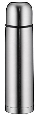 alfi 5457.205.075 Isolierflasche IsoTherm Eco, Edelstahl mattiert, 0,75 Liter, Drehverschluss, 12 Stunden heiß, 24 Stunden kalt, BPA-Free