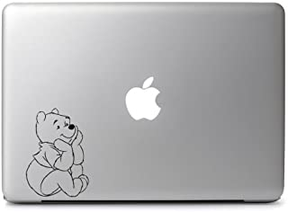 Trademark Unique Deals Winnie Pooh Watch Apple Vinyl Sticker Decal, Die Cut Vinyl Decal for Windows, Cars, Trucks, Tool Boxes, laptops, MacBook - virtually Any Hard, Smooth Surface