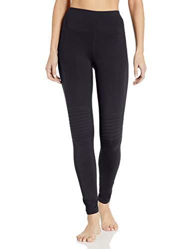 SHAPE activewear Damen Moto Leggings, schwarz - kaviar, Mittel