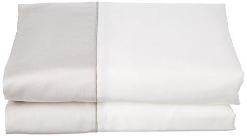 ESSIX Drap de lit, Satin de Coton, Pannacotta/Galet, 180x290 cm
