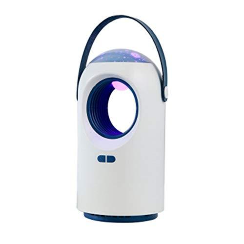 Yue668 Haushalts-Mückenvernichter USB-Elektromückenvernichter Lampe Fotokatalyse Stummschaltung nach Hause Nachtlicht Insektenfalle Strahlungsfrei (Weiß)