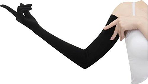 おたふく手袋【UVカット率99.7%UPF50+】手腕ひんやり接触冷感繊維使用ロングUV手袋(着用時約67cm)UV-2711