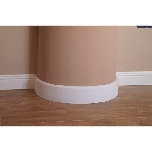 battiscopa zoccolino curvabile in polimero per pareti tonde bordo tondo mm 80x14 PREZZO PER ROTOLO DA METRI 2,4