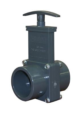 Valterra 8101 PVC Metric Gate Valve, Gray, 50/63 mm Slip-Spig x 50/63 mm Slip-Spig from Valterra Products