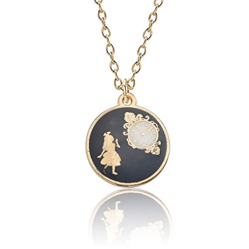 Cute Cartoon Necklace Alice in Wonderland Pendant Movie Jewelry Gift Fashion Lovely Gift for Women for Girls Accessories