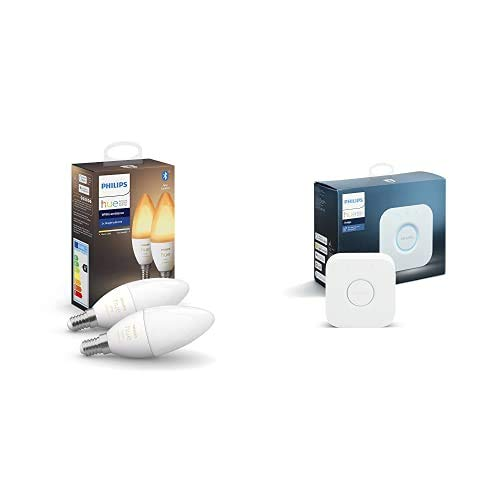 Philips Lighting Hue White Ambiance 2 Ampoules Smart Culot E14 avec Bluetooth...