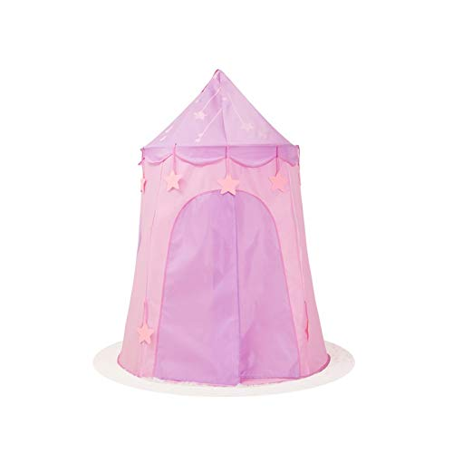 Humanity Junge Und Mädchen Faltbare Yurt Castle House Palace Zelt Kinderspielhaus, Innen- und Außen tragbare Kinder Spielzeug-Zelt, (Color : Pink, Size : 115x150cm)