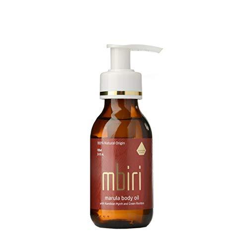 Mbiri Marula Körperöl, Naturkosmetik Gesichtsöl & Körperöl, Bio Body Öl für trockene Haut, vegan, (1 x 100 ml)