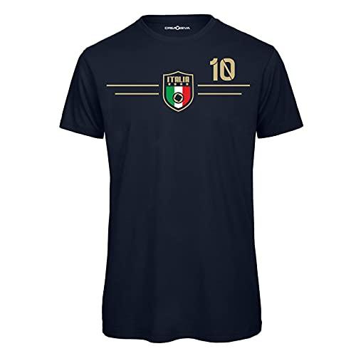Createeva T-Shirt Uomo - Maglietta in Cotone - Forza Italia - Europei -...