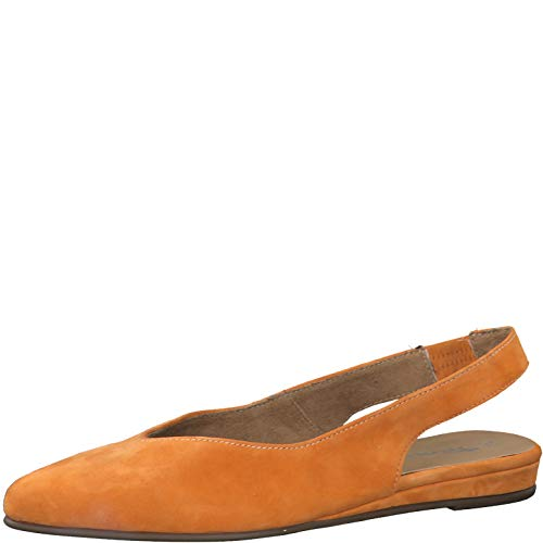 Tamaris Damen Pumps 79406-24, Frauen Sling-Pumps, Ladies feminin elegant Women's Women Woman Freizeit leger Slingback Leder,ORANGE,37 EU / 4 UK