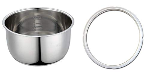 Stainless Steel Cooking Pot and Pressure Ring Combo: Compatible with 4 Quart Crock-Pot Cooker SCCPPC400-V1