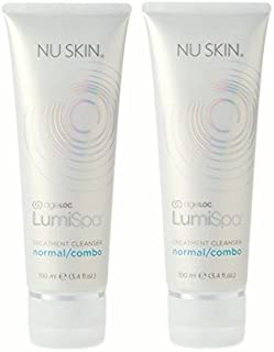 Activating cleanser for normal combo skin to use with waterproof antiaging and pore purifying facial cleanser device 2 pieces