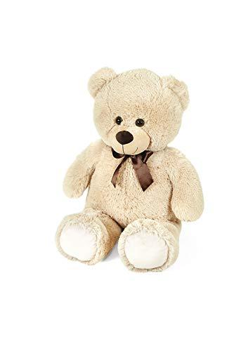 peluche orso gigante Orso peluche gigante 80 cm san valentino bianco beige marrone peluche san valentino orsacchiotto orsacchiotti piccoli peluche 80 cm (Beige)