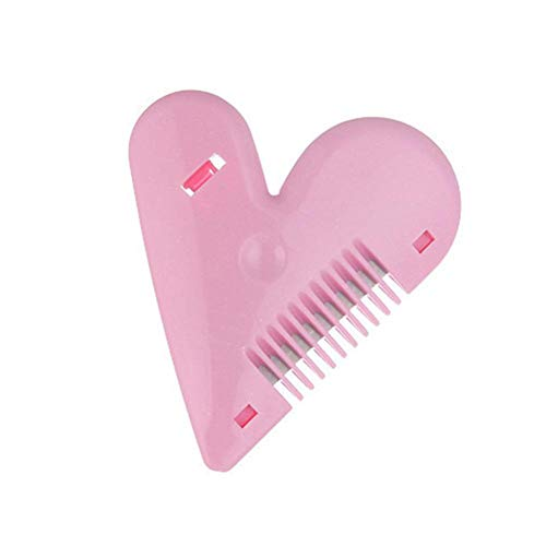 Heart Shape Thinning Hair Cutting Comb Pubic Hair Brushes Trimming Tools